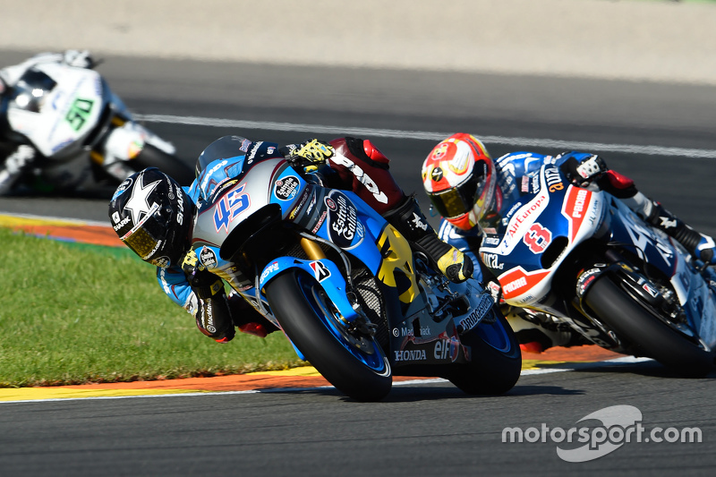 Scott Redding, Marc VDS Racing Honda and Hector Barbera, Avintia Racing