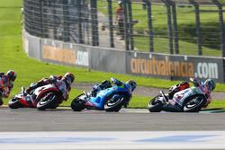 Danilo Petrucci, Pramac Racing Ducati and Maverick Viñales, Team Suzuki MotoGP and Stefan Bradl, Aprilia Racing Team Gresini
