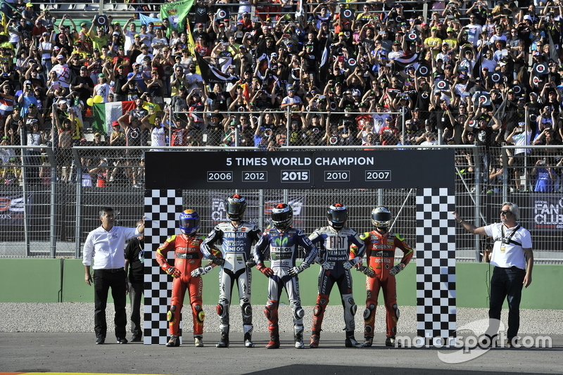 Winner and 2015 World Champion Jorge Lorenzo, Yamaha Factory Racing