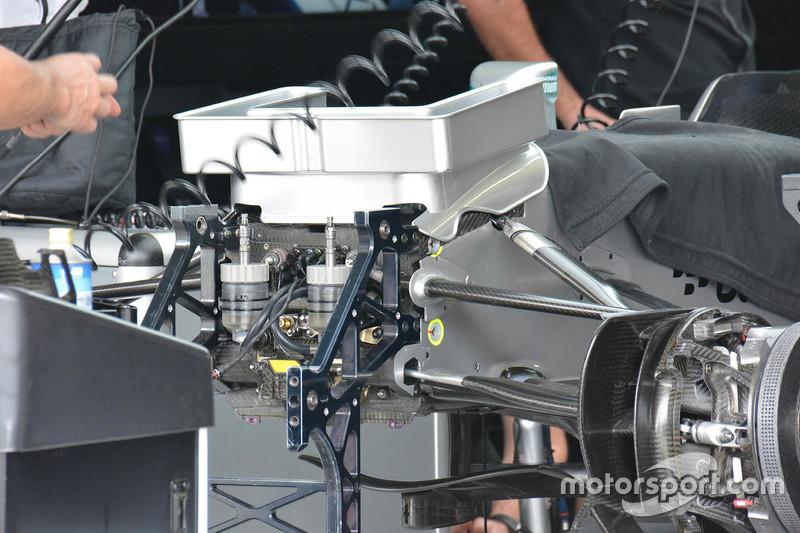 Mercedes AMG F1 W06, Detail der Frontpartie