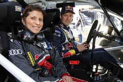 Sébastien Ogier, Volkswagen Motorsport, mit Leena Gade, Renningenieurin bei Audi Sport Team Joest