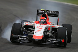 Alexander Rossi, Manor F1 Team locks up under braking