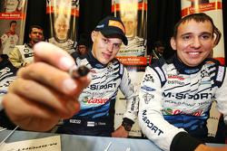 Ott Tanak and Molder Raigo, M-Sport sign autographs for the fans