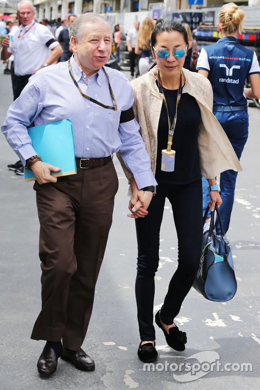 Jean Todt, FIA President met vrouw Michelle Yeoh