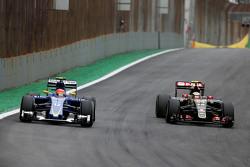 Felipe Nasr, Sauber F1 Team y Pastor Maldonado, Lotus F1 Team