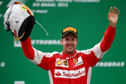 Podio: terzo Sebastian Vettel, Ferrari