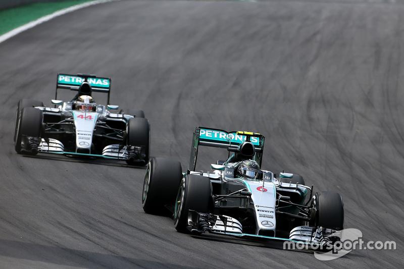 Ніко Росберг, Mercedes AMG F1 Team та Льюїс Хемілтон, Mercedes AMG F1 Team