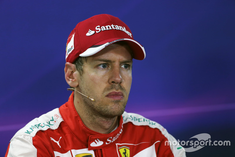 Sebastian Vettel, Ferrari, in der FIA-Pressekonferenz