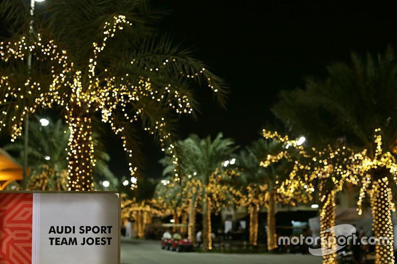 Audi Sport Team Joest im Fahrerlager in Bahrain