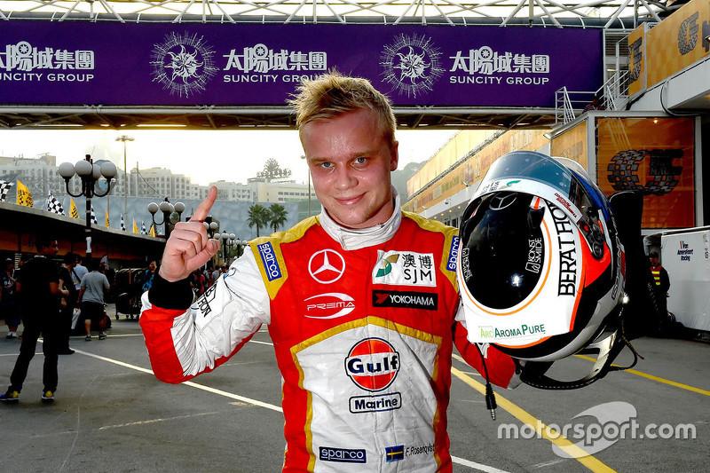 Polesitter Felix Rosenqvist, Prema Powerteam, Dallara Mercedes-Benz