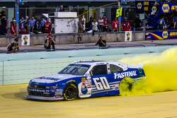 NASCAR XFINITY Series 2015 champion Chris Buescher, Roush Fenway Racing Ford celebratres