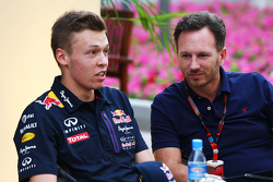 Daniil Kvyat, Red Bull Racing con Christian Horner, Red Bull Racing Director del equipo