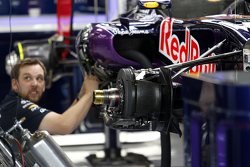 Red Bull Racing RB11 being built in the pits