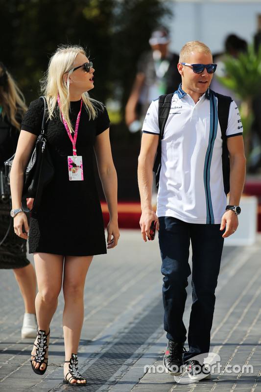 Valtteri Bottas, Williams met vriendin Emilia Pikkarainen