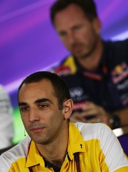 Cyril Abiteboul, Renault Sport F1 Managing Director in de FIA persconferentie