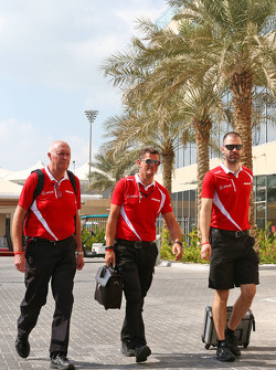 (L to R): John Booth, Manor Marussia F1 Team Team Principal with Graeme Lowdon, Manor Marussia F1 Team Chief Executive Officer and Marc Hynes, Manor Marussia F1 Team Driver Coach