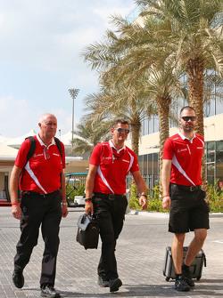 John Booth, Manor Marussia F1 Team, mit Graeme Lowdon, Manor Marussia F1 Team, und  Marc Hynes, Manor Marussia F1 Team