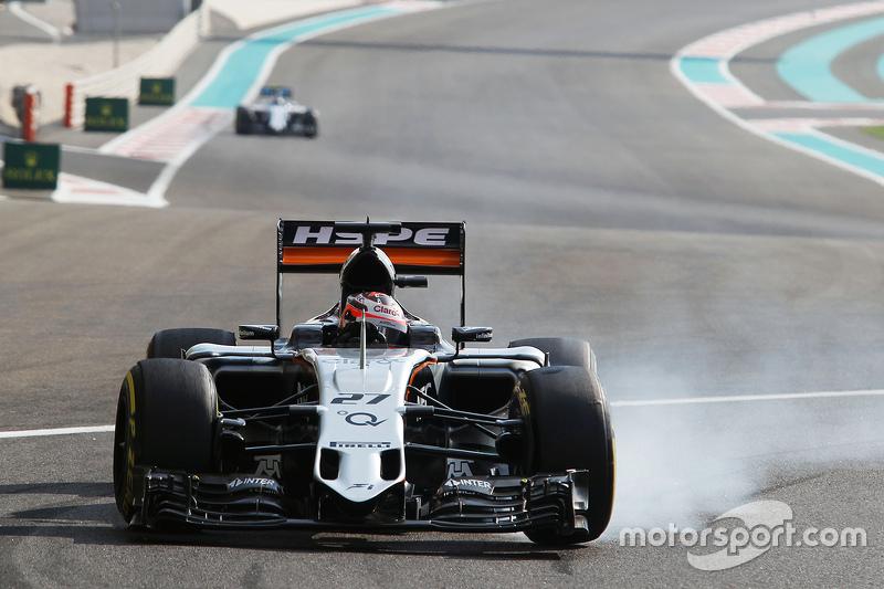 Ніко Хюлкенберг, Sahara Force India F1 VJM08 блокує колеса на гальмуванні