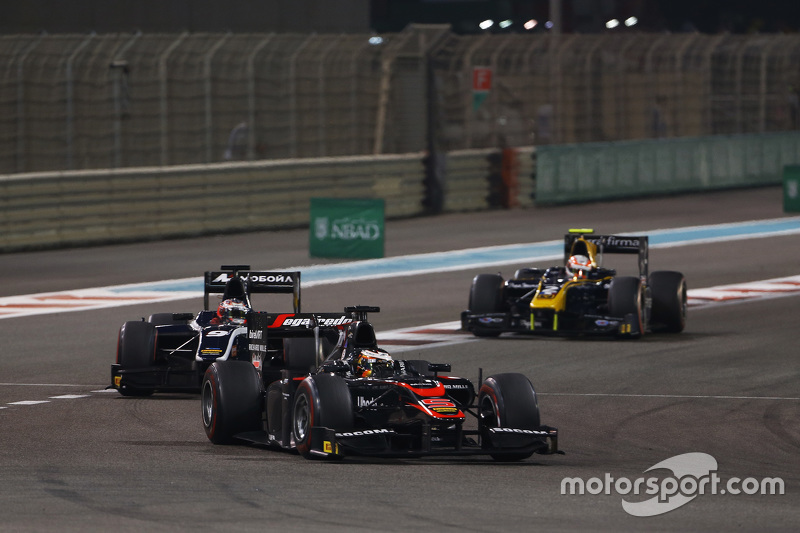 Stoffel Vandoorne, ART Grand Prix; Mitch Evans, RUSSIAN TIME; Alex Lynn, DAMS