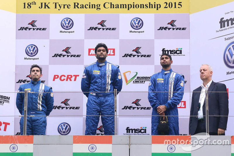 Podium: winner Sailesh Bolisetti, second place Ishaan Dodhiwala, third place Anindith Reddy