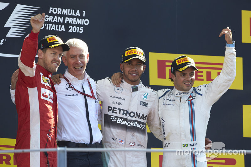Гран При Италии: 1. Льюис Хэмилтон. 2. Себастьян Феттель. 3. Фелипе Масса
