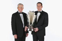 Joe Gibbs and 2015 NASCAR Sprint Cup Champion Kyle Busch