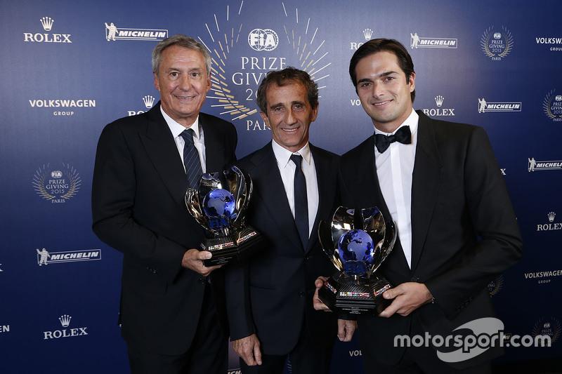 Ceremonia de premiación de la FIA