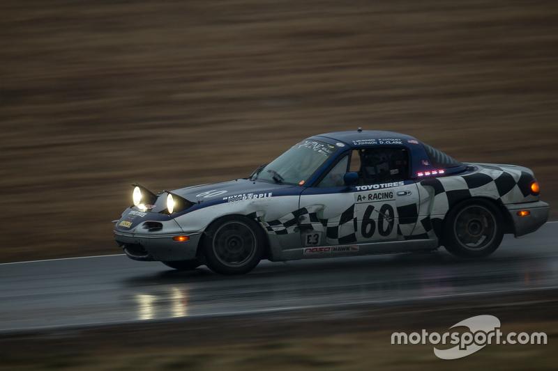 #60 A+ Racing Old Timers, Mazda Miata: Dion Johnson, Richard Lucquet, David Gehringer, Doug Clark, S