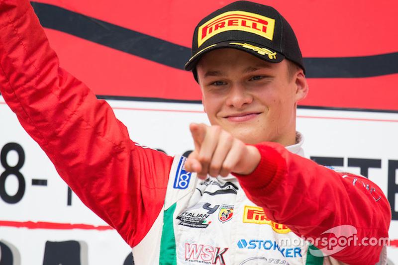 Race 1 winner Ralf Aron, Prema Powerteam