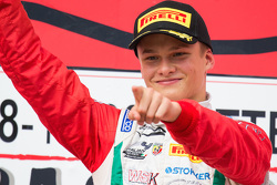 Race 1 winner Ralf Aron, Prema Powerteam