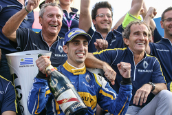 Race winner Sébastien Buemi and Renault e.Dams