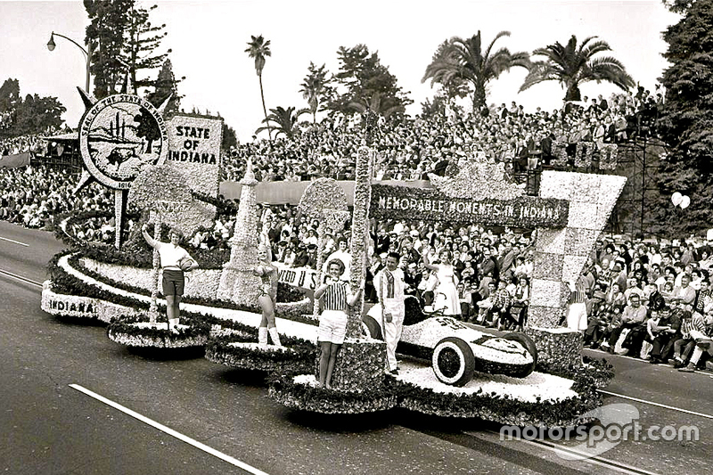 Rodger Ward at the 1963 Rose Bowl Parade