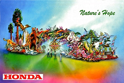 The design of Honda's 2016 Rose Bowl Parade float