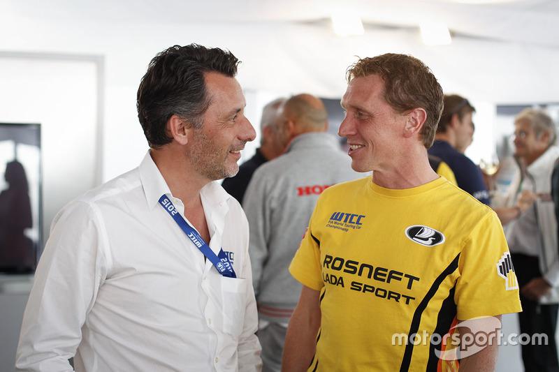 François Ribeiro, Eurosport Events Motorsport Director and Jaap van Lagen, Lada Vesta WTCC, Lada Spo