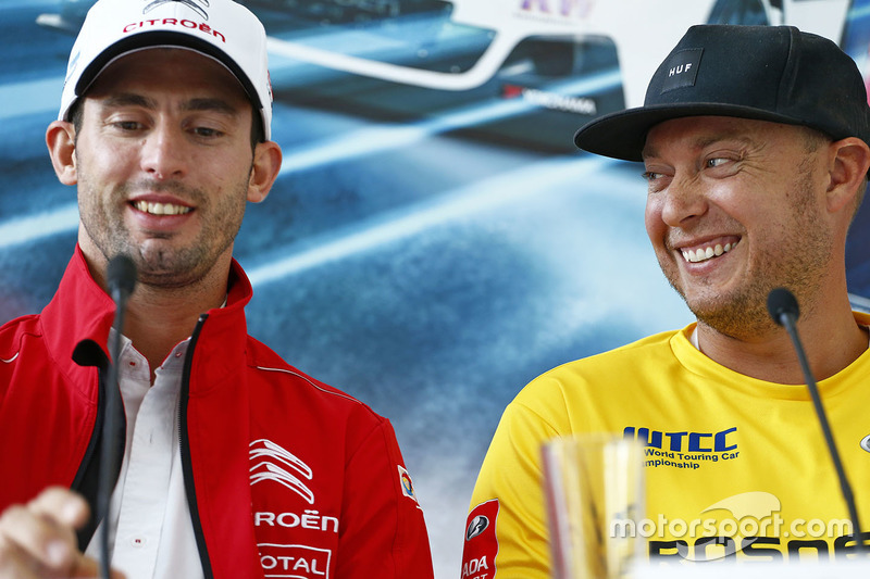 Press conference: Jose Maria Lopez, Citroën C-Elysee WTCC, Citroën World Touring Car team, Rob Huff,