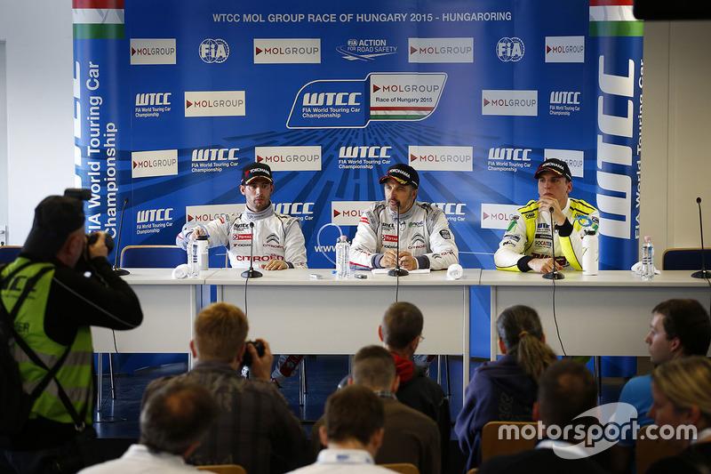 Press conference: Jose Maria Lopez, Citroën C-Elysee WTCC, Citroën World Touring Car team, Yvan Mull