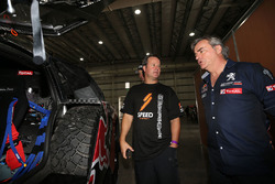 Robby Gordon and Carlos Sainz, Peugeot Sport