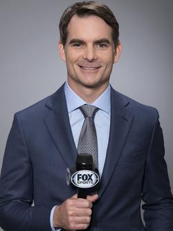 Jeff Gordon as Fox Sports television commentator