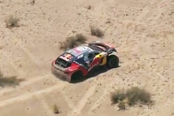 #314 Peugeot: Sébastien Loeb, Daniel Elena stuck in a dune in the stage
