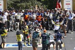Bike category podium: winner Toby Price, second place Stefan Svitko, third place Pablo Quintanilla