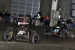 Zach Daum and Tim McCready battle early in the feature