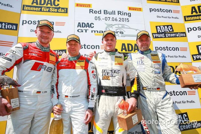 #3 C. Abt Racing Audi R8 LMS ultra: Andreas Weishaupt, Christer Jöns and #13 RWT Racing Team Corvette Z06.R GT3: Remo Lips, Sven Barth