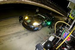 Пит-стоп команды Ян Джеймс, Марио Фарнбахер, Алекс Риберас и Вольф Хенцлер, #23 Team Seattle/Alex Job Racing Porsche GT3 R