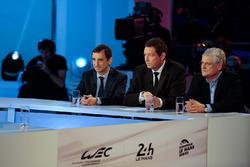 ACO directeur Pierre Fillon, WEC CEO Gérard Neveu, Jacques Nicolet