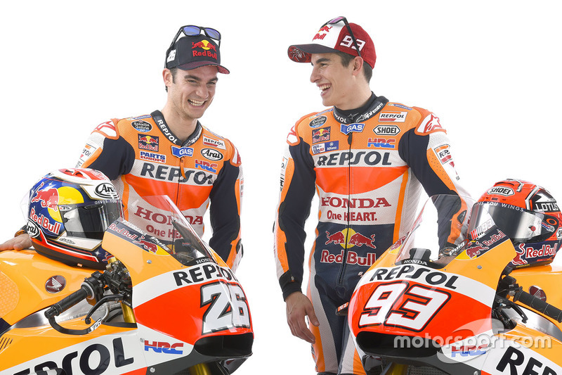 Marc Marquez, Repsol Honda Team, y Dani Pedrosa, Repsol Honda Team