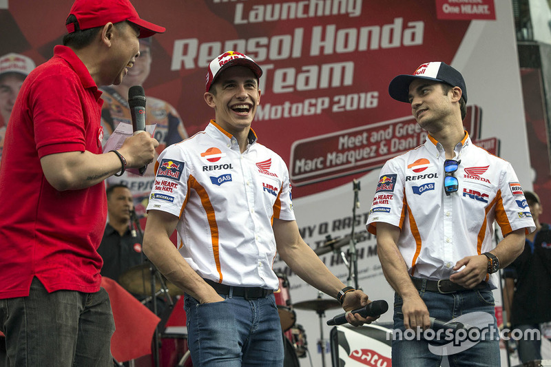 Marc Márquez, Repsol Honda Team y Dani Pedrosa, Repsol Honda Team