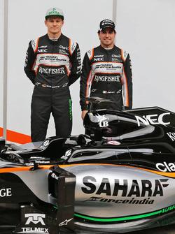 Sergio Perez, Sahara Force India F1 et Nico Hulkenberg, Sahara Force India F1 unveil the Sahara Force India F1 VJM09