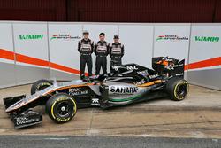 Sergio Pérez, Sahara Force India F1, Alfonso Celis Jr., Sahara Force India F1 et Nico Hülkenberg, Sahara Force India F1
