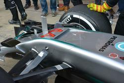 Mercedes AMG F1 Team W07, dettaglio del frontale
