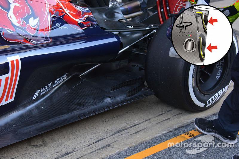 Scuderia Toro Rosso STR11, dettaglio del posteriore